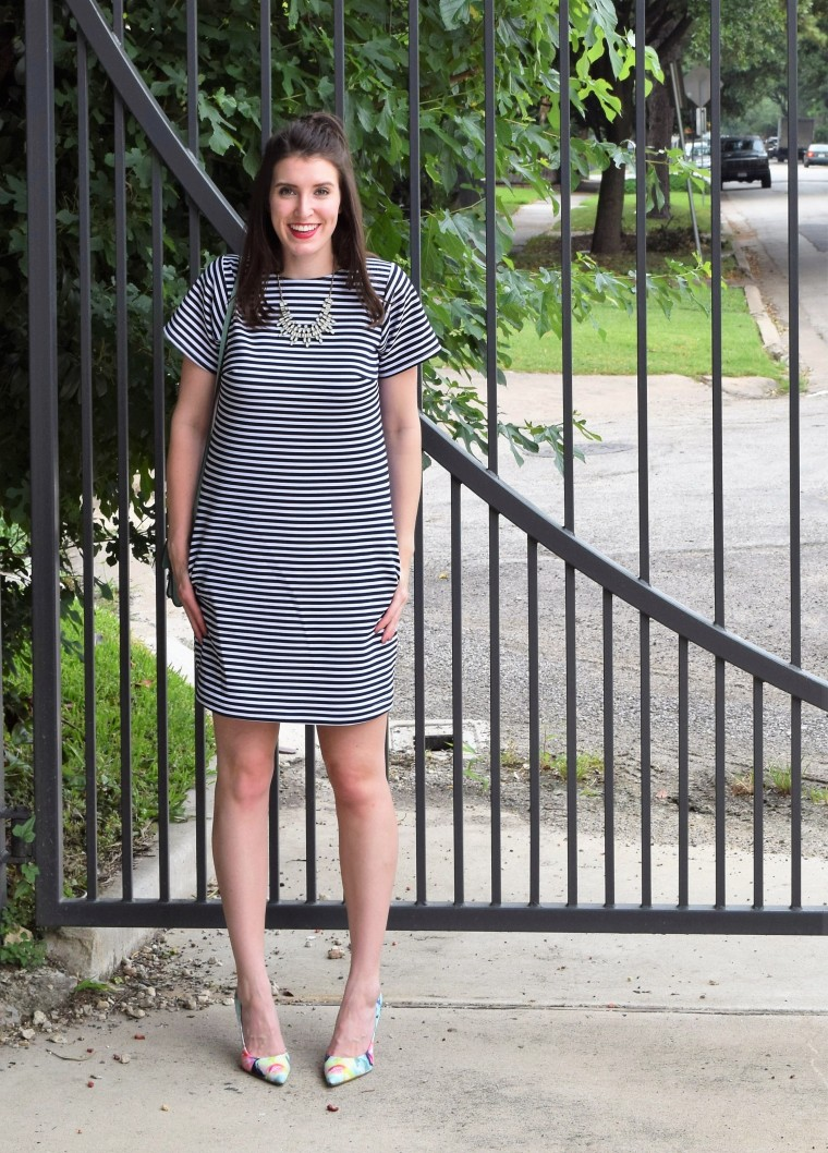 Striped Tee Shirt Dress Sewing DIY by Bunny Baubles 4