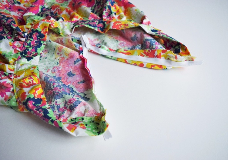 Floral Summer Skirt Sewing Tutorial by Bunny Baubles 4