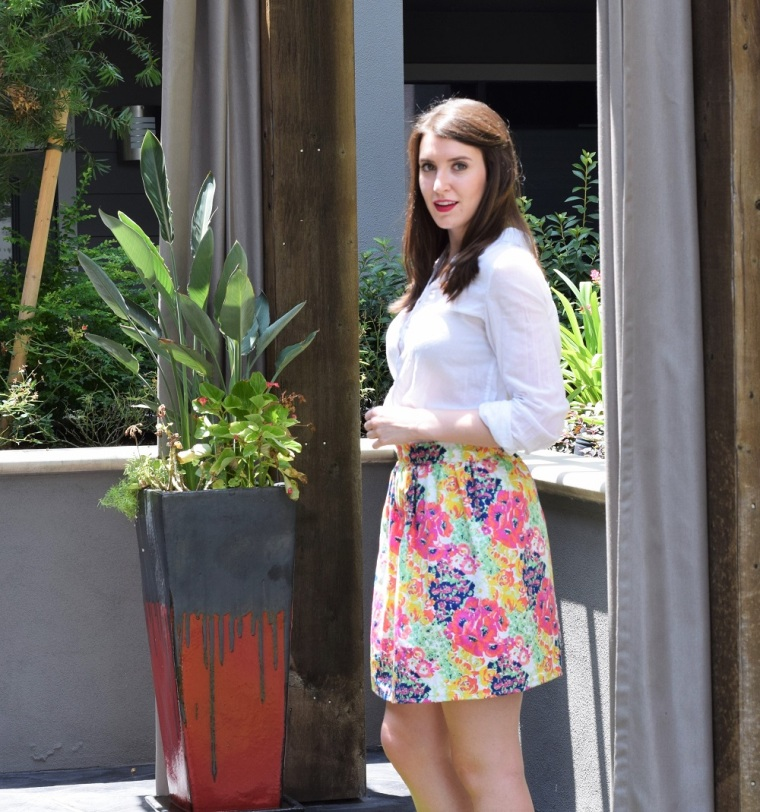 Floral Summer Skirt Sewing Tutorial by Bunny Baubles 7
