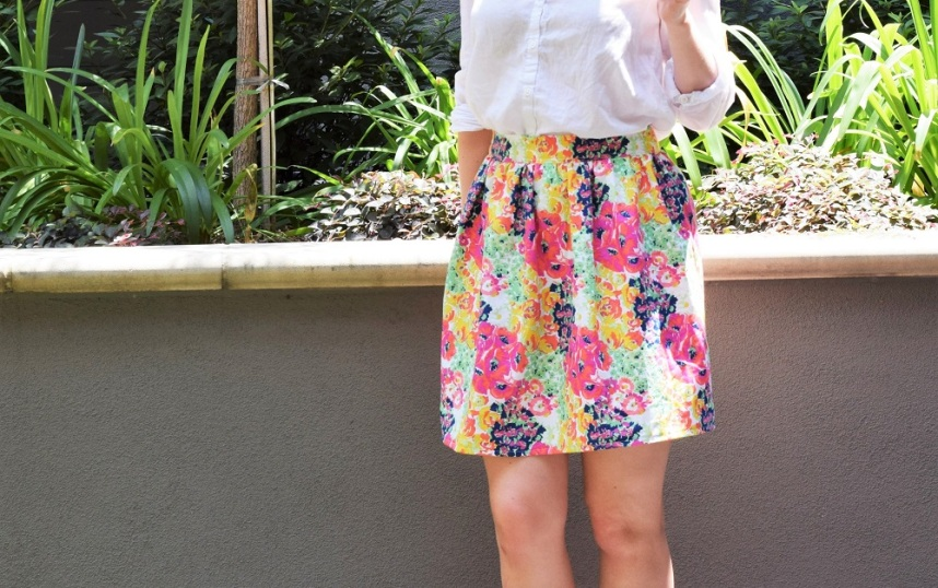 Floral Summer Skirt Sewing Tutorial by Bunny Baubles 8