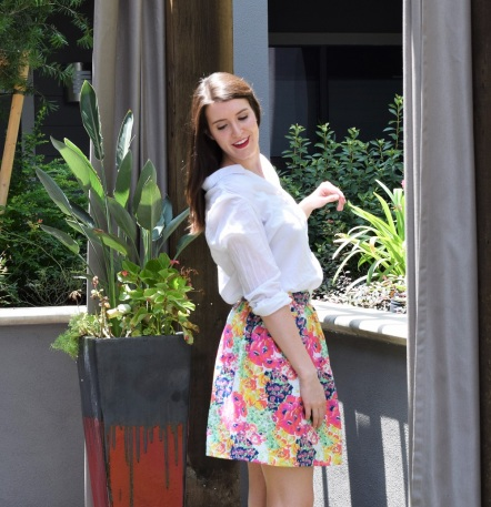 Floral Summer Skirt Sewing Tutorial by Bunny Baubles 9