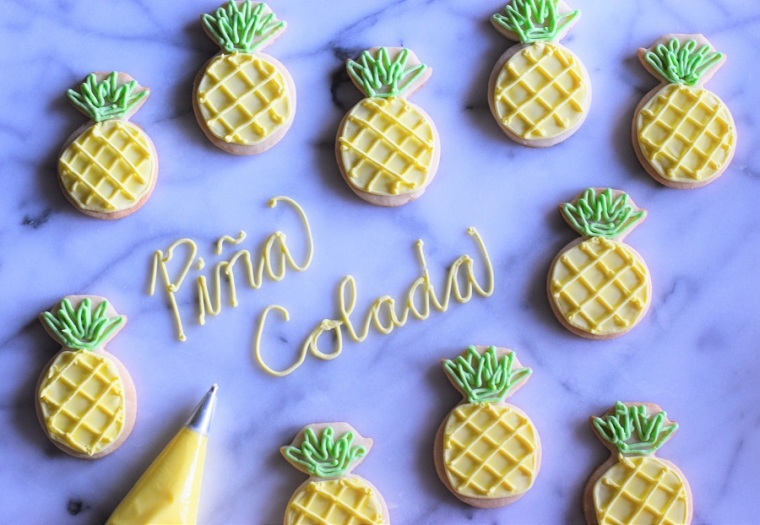 Pina Colada Cocktail Cookie Recipe by Bunny Baubles 1