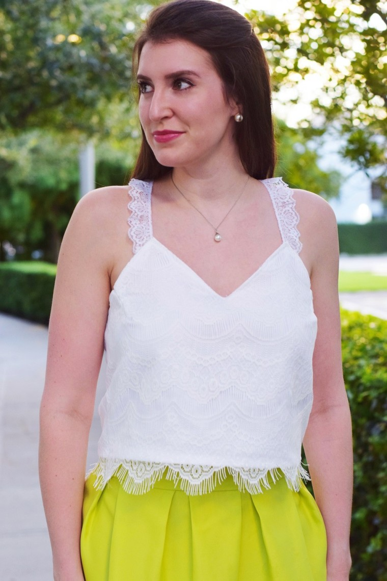 Cropped Lace Tank Top by Bunny Baubles 1
