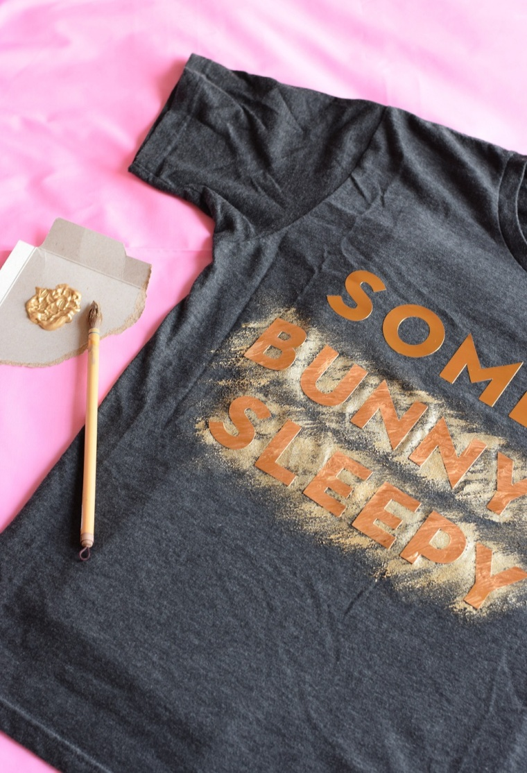 DIY Painted Pun Shirt by Bunny Baubles 2
