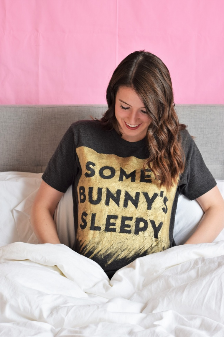 DIY Painted Pun Shirt by Bunny Baubles 4