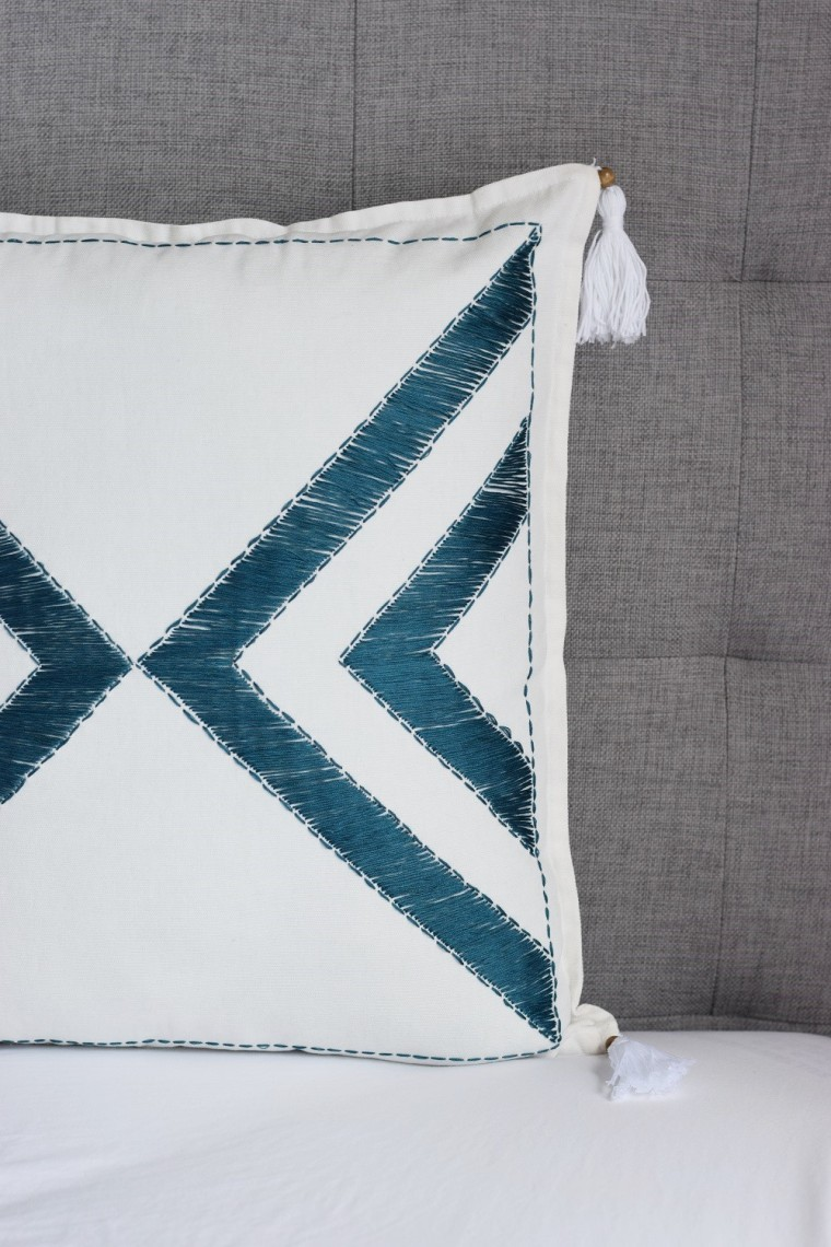 Embroidered Pillow Case DIY by Bunny Baubles 1