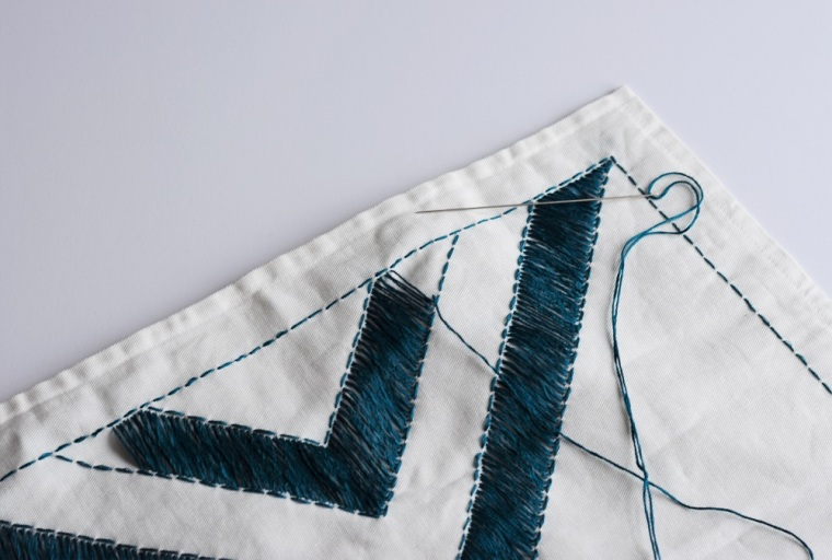 Embroidered Pillow Case DIY by Bunny Baubles 4