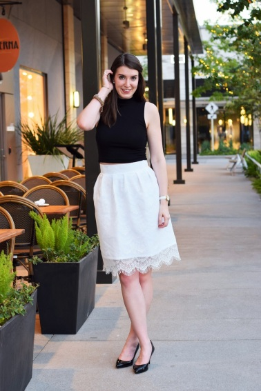 Lace Pleated Skirt by Bunny Baubles 8