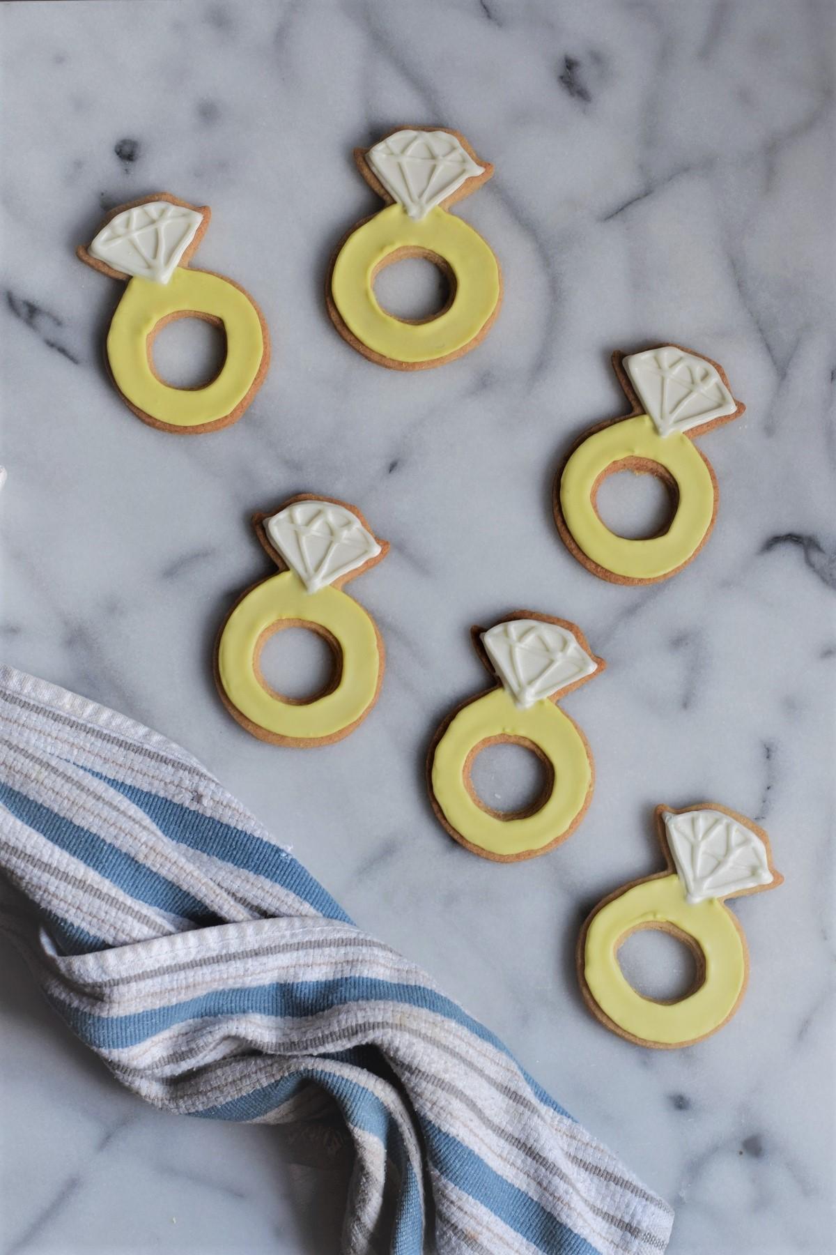 Engagement Ring Lemon Sugar Cookie Cutouts