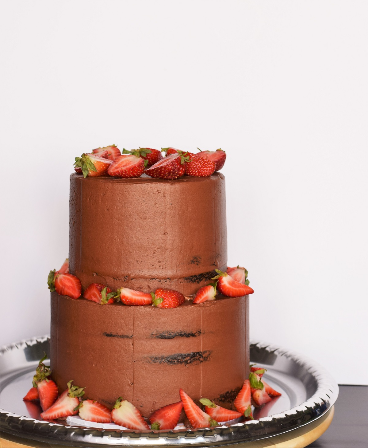 Chocolate Wedding Cake With Strawberry Filling Bunny Baubles