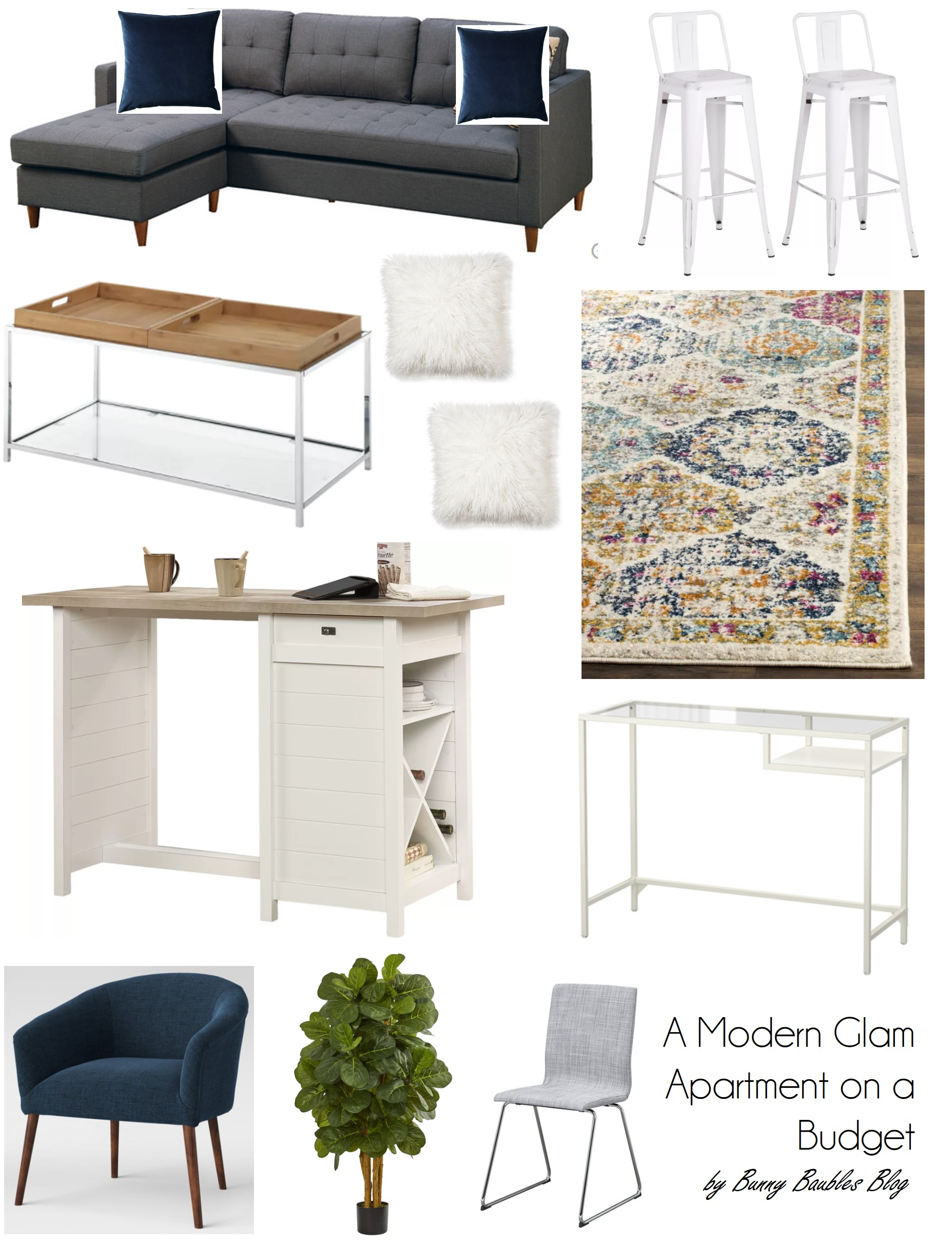 A Modern Glam Apartment on a Bud – Bunny Baubles
