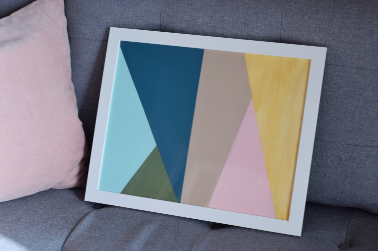 Easy DIY Geometric Artwork by Bunny Baubles 1