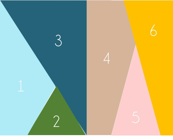 Easy DIY Geometric Artwork Step 1
