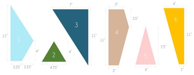 Easy DIY Geometric Artwork Step 2